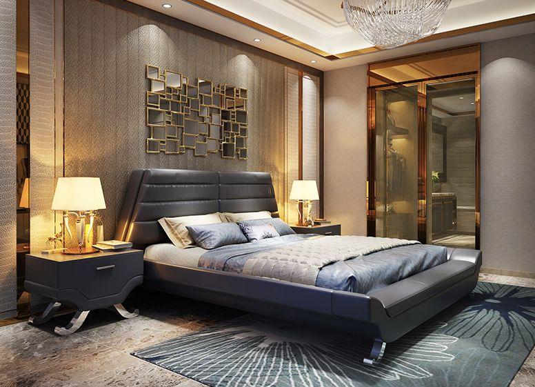acheter prix special en cuir veritable lit king size queen size chambre a coucher meubles meubles de maison de 16116 59 du cicero dhgate com