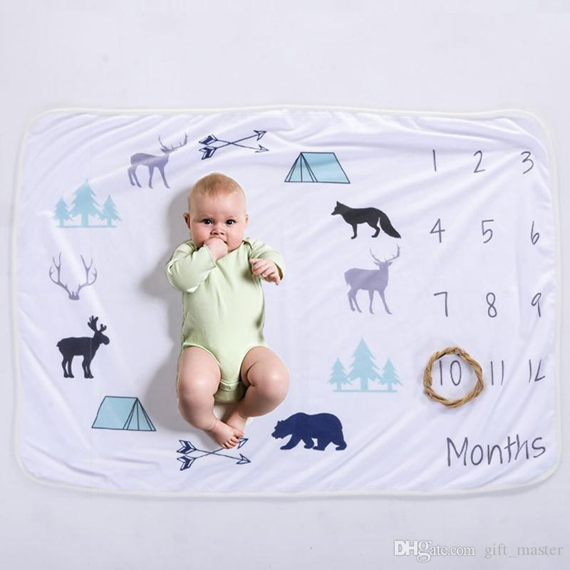 76x102cm Newborn Baby Milestone Blanket For Photos