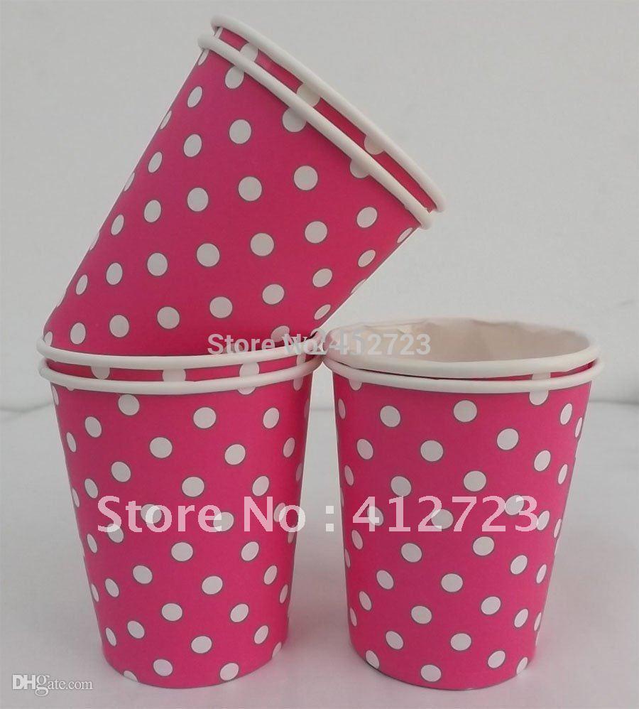 acheter 7oz points party vaisselle vaisselle jetable tasses de mariage decoration de fete fournitures hot pink tasses a boire en gros de 44 47 du glenae