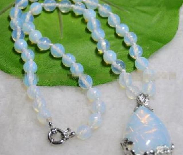 Hot Sale Women Bridal Wedding Jewelry  E  Ab E  Abnew Mm Faceted Srilanka Moonstone Round Beads White Pendant Necklace  From Dingyingying