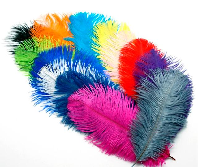 New   Beautiful Ostrich Feathers Diy Jewelry Necklace Earrings Cap Garments Accessories Wedding Decorations Scooby Doo Party Supplies Sesame