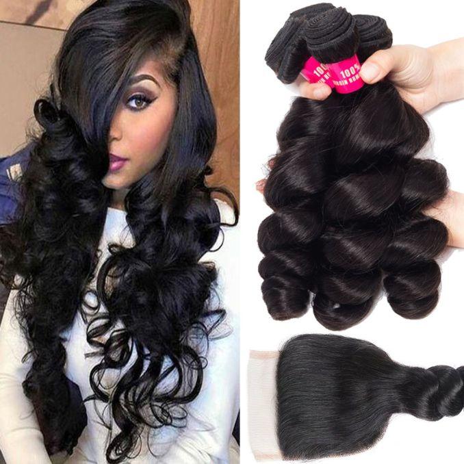 8a mink brazilian body wave straight loose wave kinky curly deep wave hair with lace closure malaysian peruvian brazilian hair weave bundles