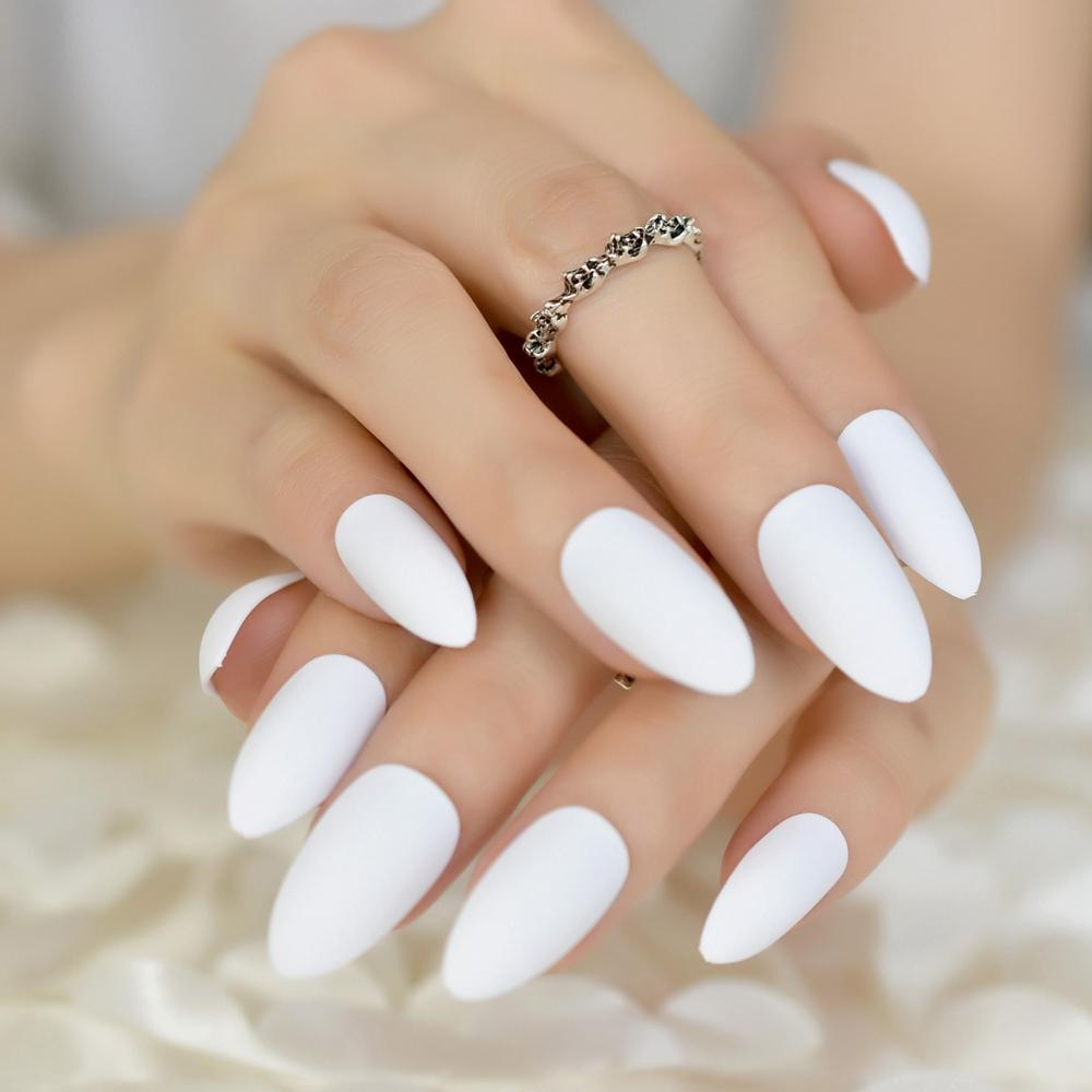 ногти миндальной формы дизайн 6