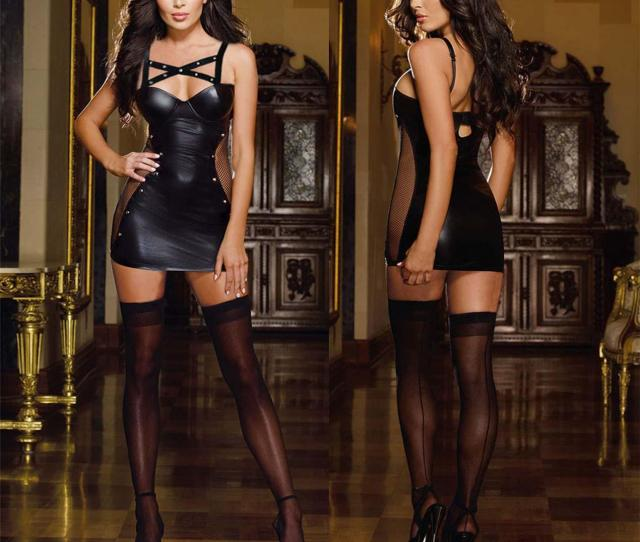 New Hot Sexy Lady Leather Sexy Lingerie Patent Leather Skirt Mini Club Wear Dress Sexy Adult Party Costume Bra And Panty Lingerie Corset From Dearu