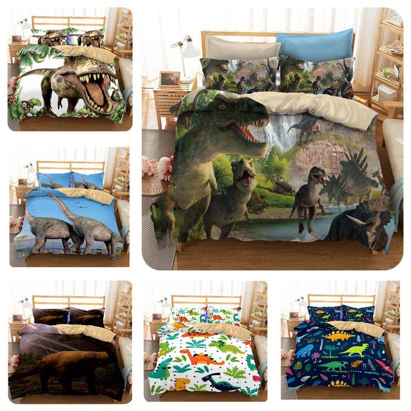 acheter ensembles de literie de couette 3d ensemble de literie de dinosaure pour enfants couverture de lit de dessin anime garcons king size ensemble de