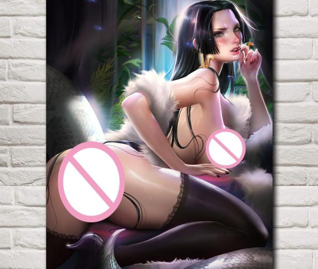 2019 Foocame Boa Hancock One Piece Anime Sexy Nude Art Silk Poster Prints Picture Home Wall Decoration Painting 12x16 24x32 Inches From Aliceer