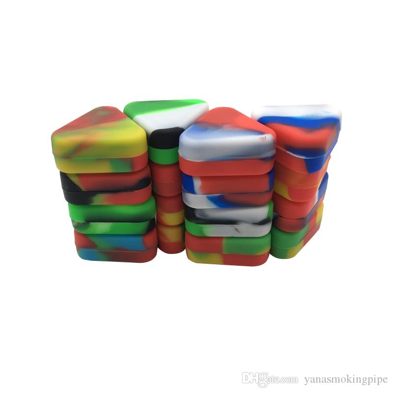 acheter meilleur silicone wax dab conteneurs 1 5 ml triangle multi usage wax oil cosmetiques fracasser pot de stockage de peinture de 4 61 du