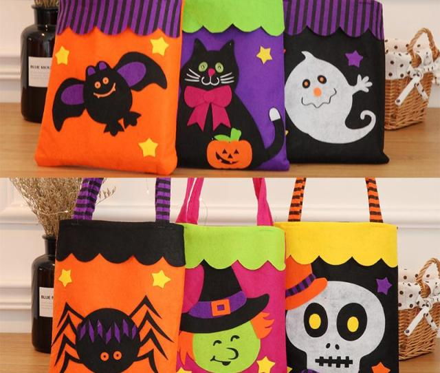Halloween Candy Bags Non Woven Fabric Cute Designer Pumpkin Bags For Kids Halloween Party Decoration Bh Halloween Candy Bags Pumpkin Bags For Kids