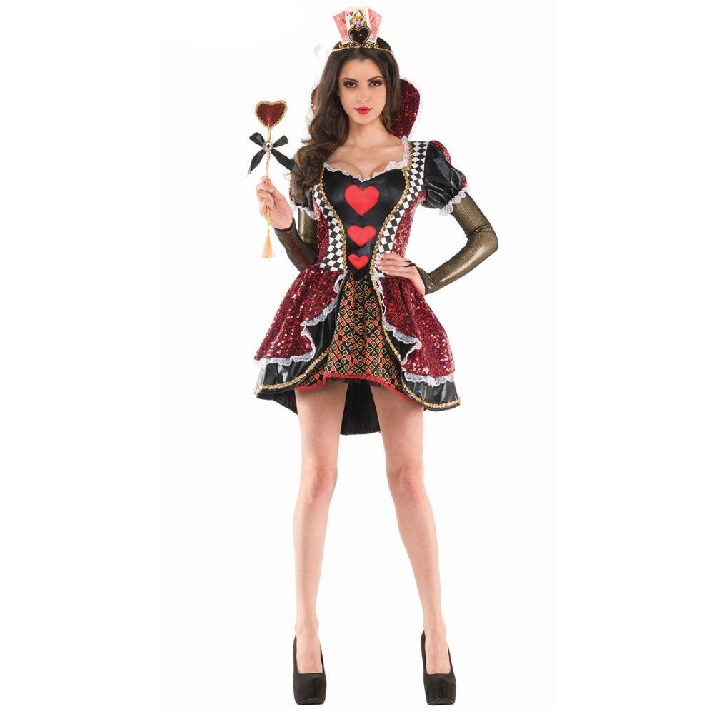 Nuovo Costume Di Alta Qualità Su Misura Alice Nel Paese Delle Meraviglie Il Costume Della Regina Rossa Costume Adulto Costume Di Halloween Per Le