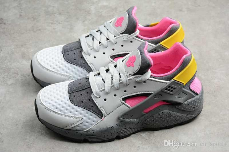 official photos 70c9e ddca6 ... where can i buy 2018 air huarache run premium men women running shoes  pink yellow gray