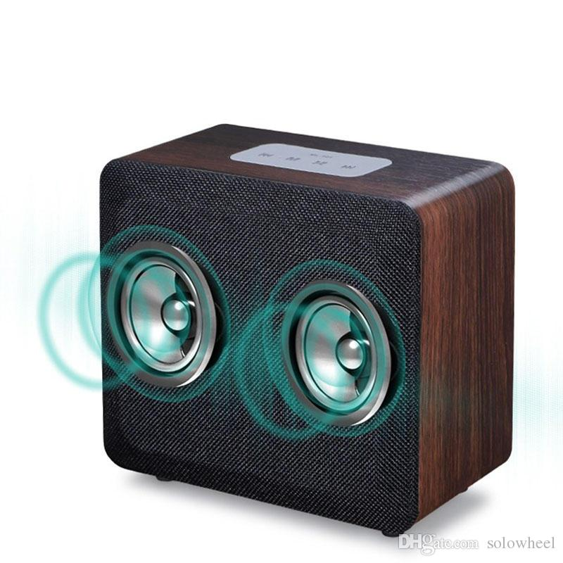 acheter new style mobiles sans fil bluetooth haut parleur alarme horloge en bois maison retro radio timebox led numerique table horloge de musique de 51 14
