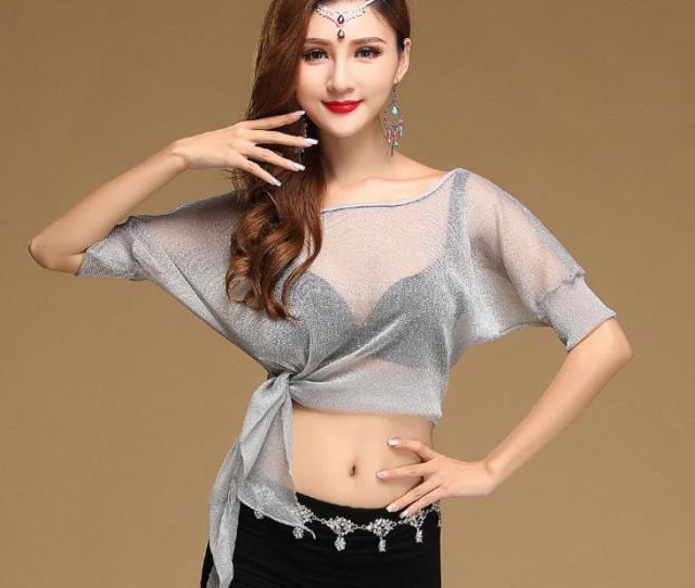 2019 Sexy Belly Oriental Dance Mesh Tops Shirt Costume For Women Eastern Bellydance Indian Dancing Clothes Dancer Wear Batwing Sleeve From Duixinju