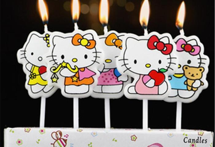 2019 Hello Kitty Party Supplies Kids Birthday Candles Evening Party