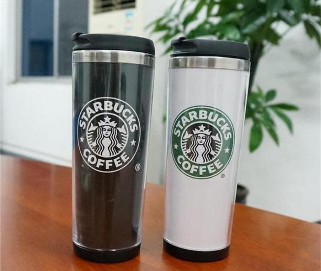 Starbucks Double Wall Mug Flexible Cups Coffee Cup Mug Tea Travelling Mugs Tea Cups Wine Cups Personalized Stainless Steel Coffee Travel Mugs Personalized