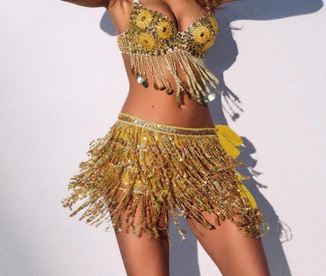 New Sexy Women Sequin Belly Dance Skirt Dancer Costume Tassel Wrap Skirt Club Mini Belly Bellydance Costume From Mujing   Dhgate Com