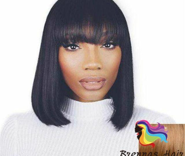 Best Quality Human Hair Bob Wigs  Brazilian Hair Lace Front Human Hair Wigs African American Short Wigs For Black Women
