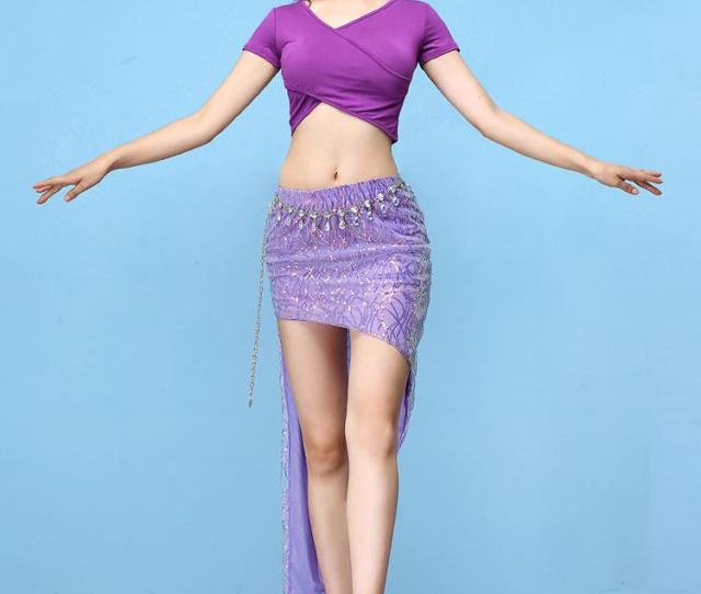New Top And Sexy High Split Skirt For Women Belly Indian Dance Cut Out Suit Girls Lady Belly Competition Set From Gingerliu   Dhgate Com