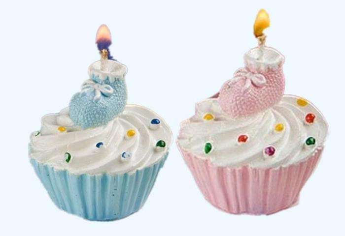 2019 Baby Shower Candles Cupcake And Shoes Design Cake Candles For