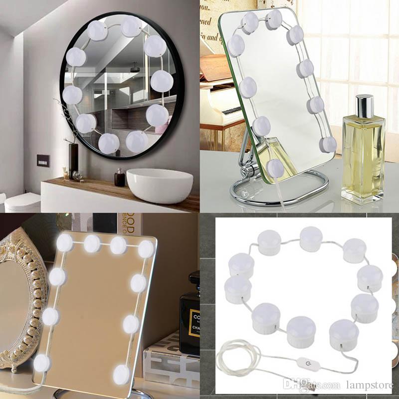 acheter hollywood style led vanite maquillage miroir kit de lumieres avec 10 ampoules dimmable lighting fixture bande pour maquillage vanite tableau