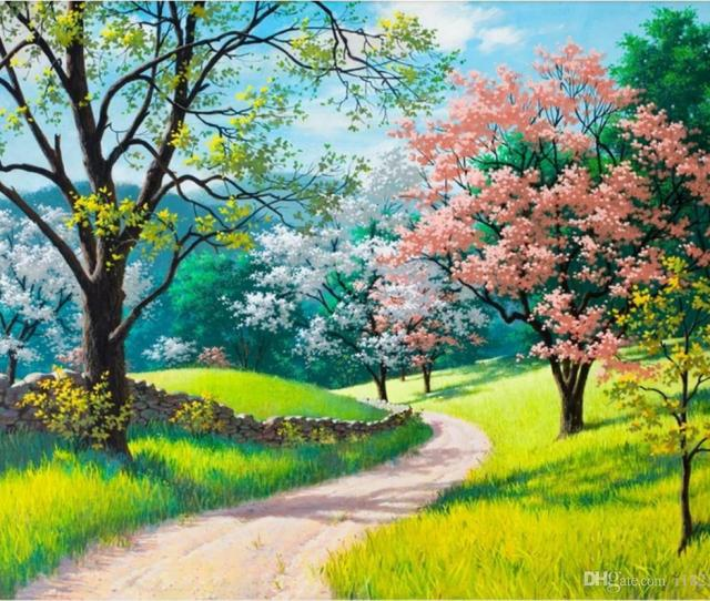 Custom 3d Wall Murals Wallpaper 3d Photo Wallpaper Murals Beautiful Color Garden Oil Painting Art Tv Background Wall Painting Home Decor Hd It Wallpapers Hd