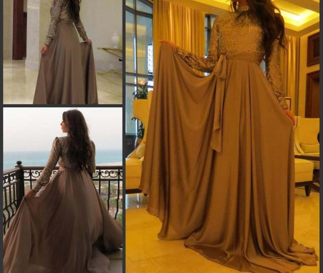 Cheap Muslim Evening Dress Newest Arabic Kaftan Formal Celebrity Holiday Wear Prom Party Gown Custom Made Plus Size Long Dresses Online Long Evening