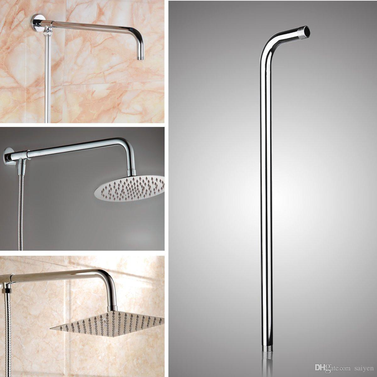 24inch Wall Mounted Stainless Steel Shower Extension Arm For Rainfall Shower Head Arms Bathroom Tools Accessories