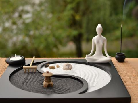 zen garten deko japan stil holz handwerk zen garten dekoration harz figur entspannen  buddhismus weihrauch brenner sand tisch dekoration handwerk