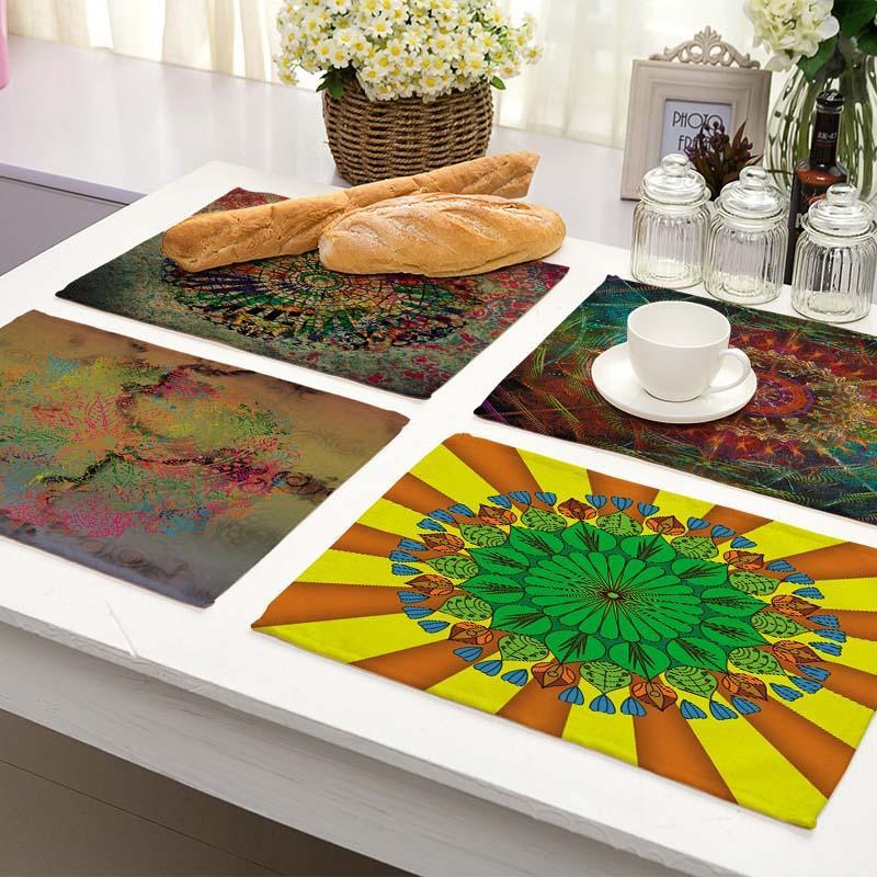 acheter 42 32 cm modele rond tapis de table de cuisine pour table a manger coton serviette de table napperons decoratifs mp0073 de 23 88 du industrial
