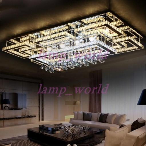Luxury Modern Led Crystal Ceiling Light Square Ceiling Lamp K9     Luxury Modern Led Crystal Ceiling Light Square Ceiling Lamp K9 Crystal  Ceiling Chandeliers For Living Room Bedroom Restaurant Light Fixtures  Chandelier With