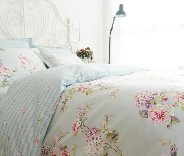 Romantic American Country Style Vintage Floral Bedroom Setdesigner Shabby Girls Bedding Setmodern Flowers Jacquard Bed Cover Blue Bedding Black Bedding