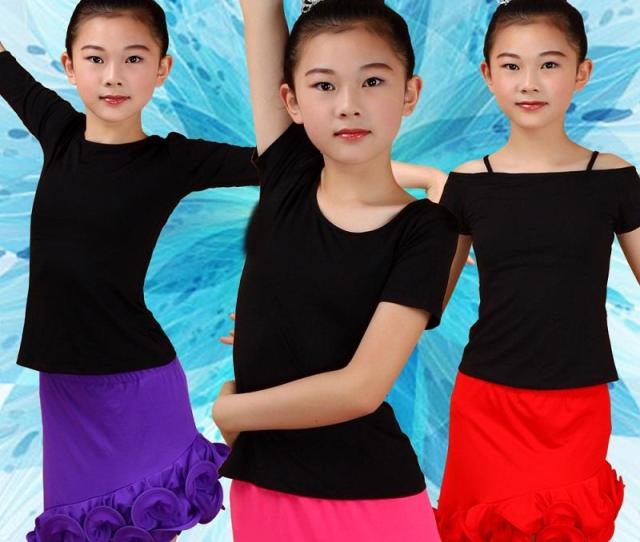 New Sexy Girls Latin Dance Tops Sale Rumba Cha Cha Samba For Children Latino Practice Dancing Clothes Not Including Skirt From Primen