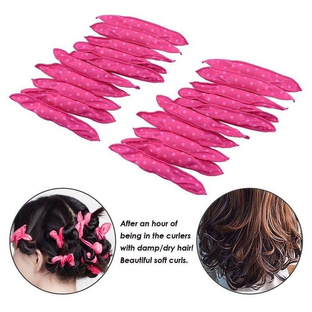 magic pillow soft rollers spiral curls flexible foam sponge hair roller diy styling hair curlers tool no heat for women hair care tips for long hair best