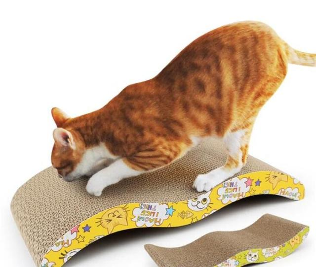 Pet Cat Scratching Post Cat Toy Degradable Corrugated Cardboard Material For Cats Sharpen Claw Interactive Toy Training Scratching Board Catnip Free Cat