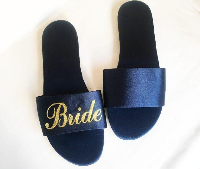 Personalized Wedding Party Gifts Bridesmaid Gift To Bride Maid Of Honor Satin Slippers Unique Bridesmaid Gift To Bride Personalized Wedding Party Gifts