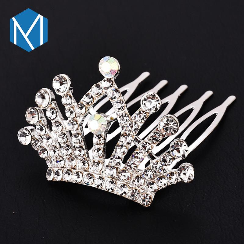 m mism children girls wedding colorful crown style hair accessories high quality fancy hair clips novelty design of hairgrips short hair accessories hair