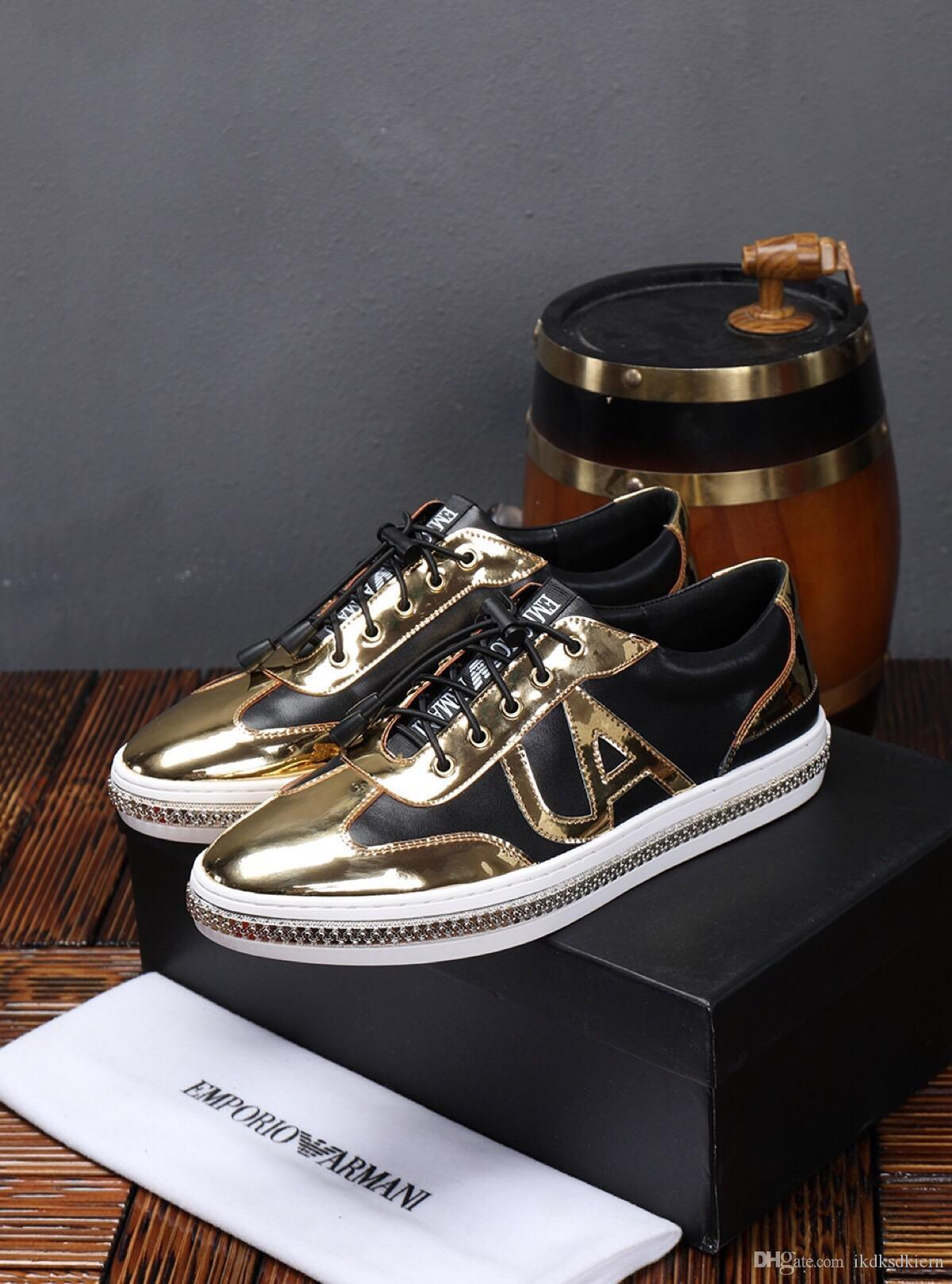 E Latest Color Matching Leather Men S Casual Shoes