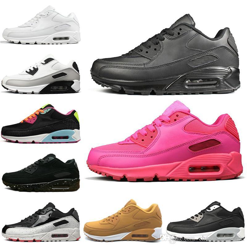 Nike Air Max 90 Shoes Männer Frauen Laufschuhe Triple Schwarz Weiß Cny Oreo Schwarz Croc Infrarot Neon Jogging Outdoor Trainer Herren Sport Sneaker