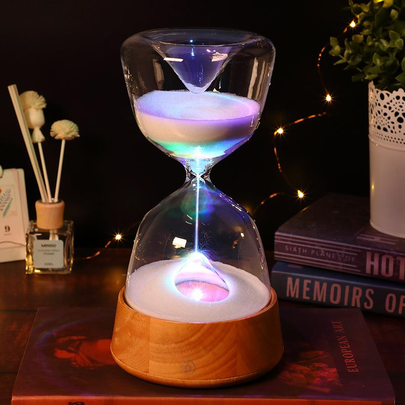 2019 Hourglass 15 Minutes Timer Sand Clock Switching Lighting Home Decoration Decor Living Room