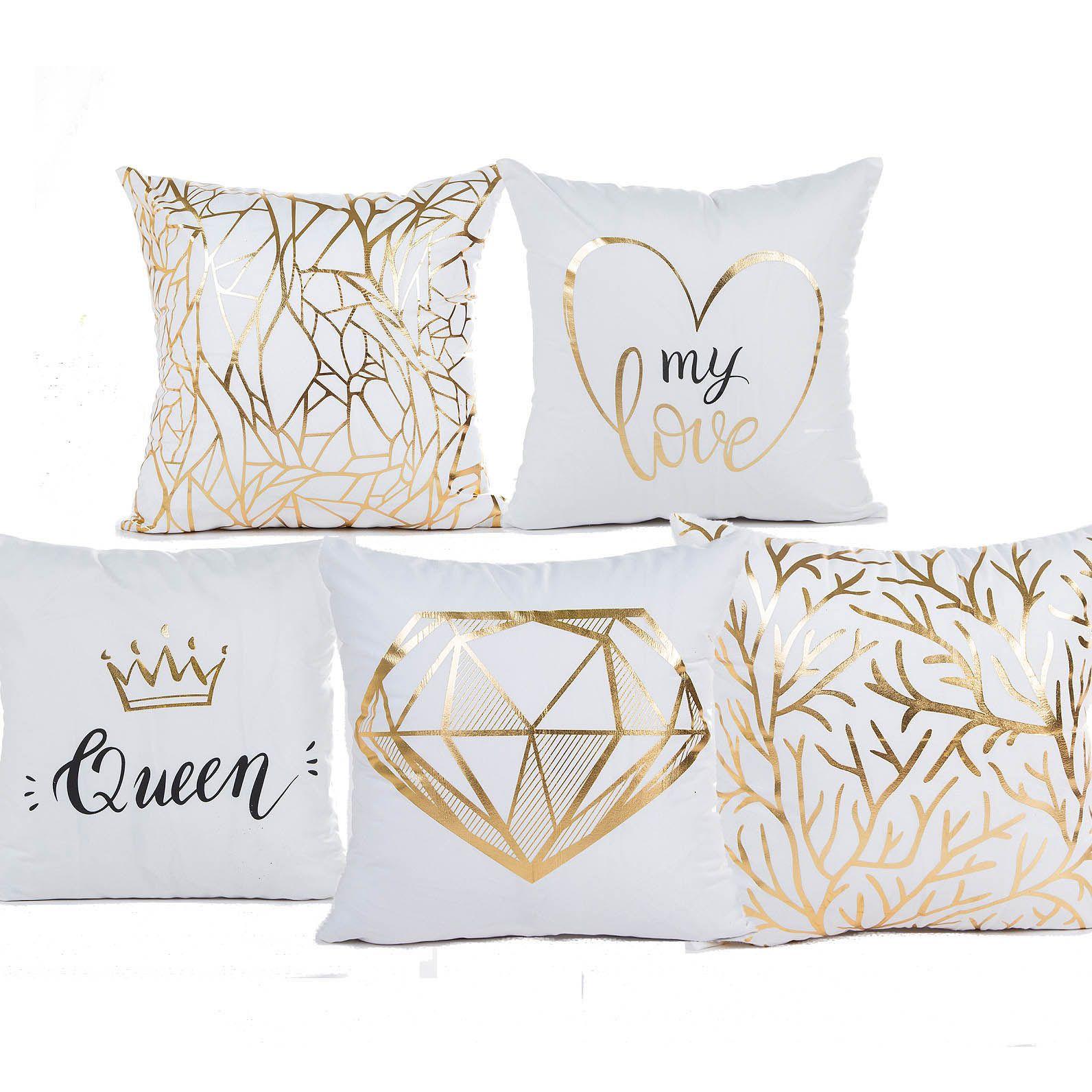 acheter reine couronne amour coeur croissance anneau bronzing coussin cover oreiller couvre 45x45cm decoratif canape chaise taie d oreiller room decor de