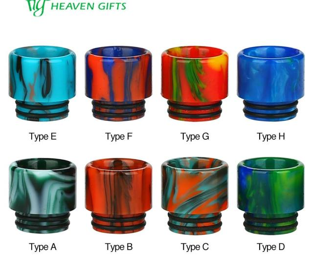 Best Long Curved Drip Tip Cheap Red Wide Bore Drip Tip
