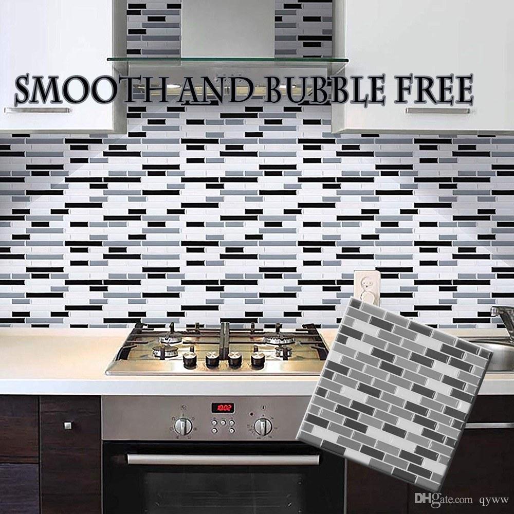 Carta Da Parati Autoadesiva Autoadesiva Della Parete Del Mosaico 3d Di Semplicità Di Semplicità Per La Cucina Ed Il Vetro Dimitazione Delle