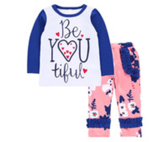 Wholesale Ruffle Girl Boutique Clothing For Sale Baby Ruffle Outfits Girls Letter Top Floral Print