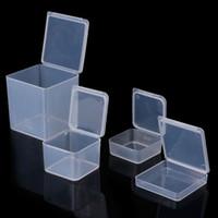 petit carre clair en plastique boites de rangement de bijoux perles artisanat conteneurs de cas