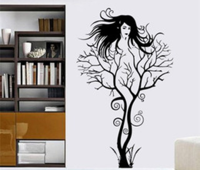Chinese Sexy Girl Wall Stickers Office Living Room Decoration Zooyoo Diy Tree Branch Vinyl Adesivo De