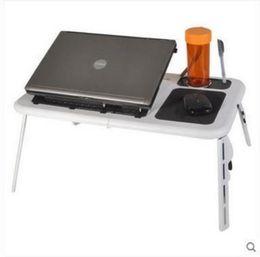 8 photos bureau debout pliant en ligne pliable portable table plateau multi fonction fan tablette support de