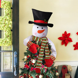 Christmas Top Hat Decorations S Snowman Tree Star Xmas Festival Party