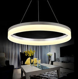 Shop Contemporary Pendant Lights Acrylic UK   Contemporary Pendant     Single Rings Circles Modern LED Pendant Lights for Dining Room White  Acrylic LED Pendant Lamp Contemporary