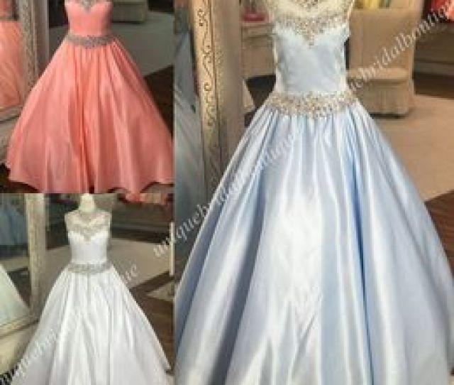 Necked Girls Photos Nz Little Roise Girls Pageant Dresses 2019 A Line High Neck