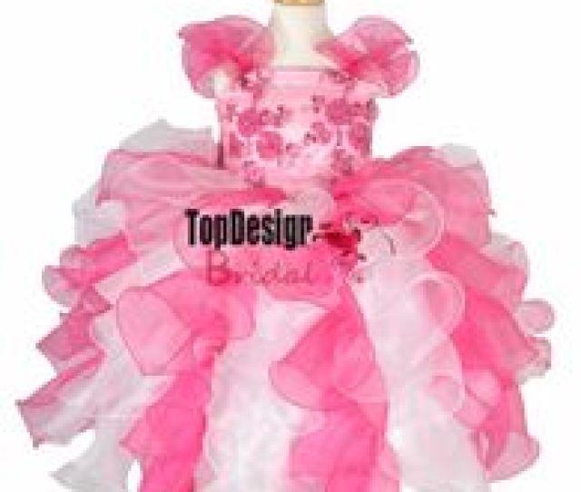 Free Hot Photo Girls Uk New  Hot Pink And White Ruffles Kid Pageant Dress