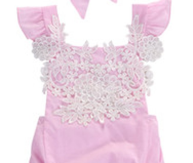 Discount Baby Girl Bodysuit Lace Newborn Clothes  Cute Newborn Infant Baby Rompers Girls Jumpsuits